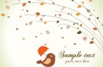 Free vector Vector background  Free Cute birds vector background