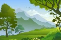 Free vector Vector background  free forest landscape trees