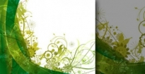 Free vector Vector flower  Free green vector summer background