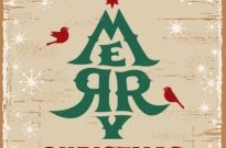 Free vector beautiful merry christmas typography retro card Free vector 366.04KB