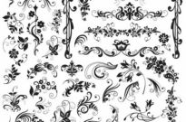 Free vector decorative swirls flowers border design Free vector 353.94KB