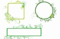 Free vector Vector floral  Fresh Green Borders