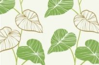 Free vector Vector background  Fresh hand-painted leaves vector background
