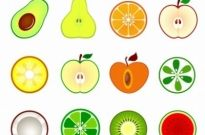 Free vector Vector icon  fruit cut in half