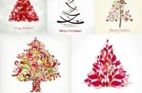 Free vector Vector Christmas  fun christmas tree vector
