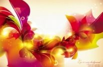 Free vector Vector background  glow bright floral pattern background 03 vector