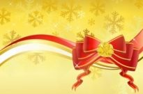 Free vector Vector background  Gold background with red bow