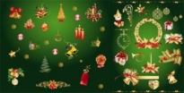 Free vector Vector Christmas  gold christmas decorative elements vector