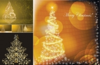 Golden christmas tree vector Free vector 13.28MB