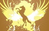 Free vector Vector background  Golden Horse background vector