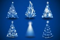 Gorgeous christmas tree 03 vector Free vector 1.61MB