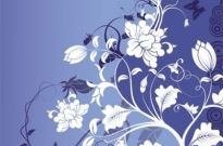 Free vector Vector background  Gorgeous Fashion Flower Background