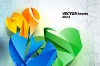 Free vector Vector background  gorgeous threedimensional vector illustration background 4
