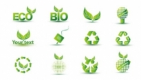 Free vector Vector icon  Green Eco Icon Set