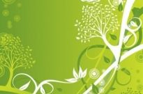 Free vector Vector background  Green Floral Background Vector Illustration