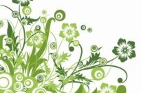 Free vector Vector flower  Green Floral Design Vector Graphic