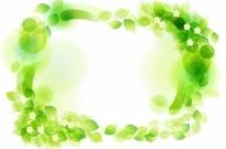 Free vector Vector floral  Green Floral Frame Vector Illustration