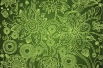 Free vector Vector background  Green Floral Seamless Background Vector Illustration