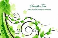 Free vector Vector background  Green Floral Swirl Vector Background