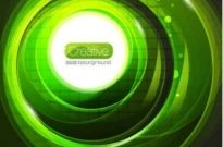 Free vector Vector background  Green halo Abstract background