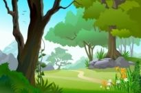 Free vector Vector background  Green Landscape Trees Vector Background