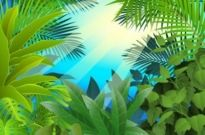 Free vector Vector background  green leaves theme background 05 vector
