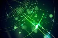 Free vector Vector background  green light background