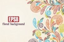 Free vector Vector background  Hand-painted background pattern vector