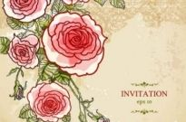 Free vector Vector background  Hand-painted flowers floral background