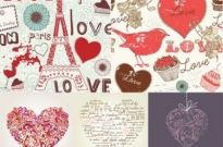 Free vector Vector Heart  handpainted love element vector