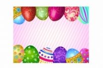 Free vector Vector misc  Happy easter eggs frame
