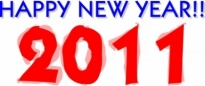 Free vector Vector clip art  Happy New Year 2011