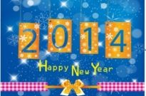 Free vector Vector misc  Happy New Year 2014
