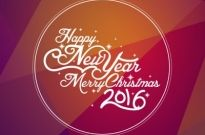 Happy new year 2016 merry christmas Free vector 592.43KB