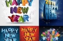 Free vector Vector misc  happy new yeardimensional vector