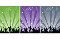 Free vector Vector people  Happy People Dancing Vector Silhouettes