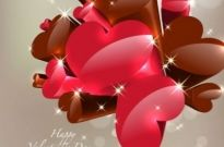 Free vector Vector Heart  Happy Valentine's Day Vector