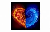 Free vector Vector Heart  Heart in water and fire