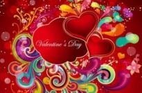 Free vector Vector Heart  Heart Valentines Day Red Background
