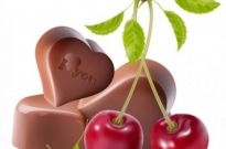 Free vector Vector Heart  heartshaped chocolate and cherry vector