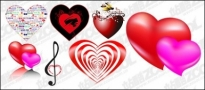 Free vector Vector Heart  Heart-shaped theme of the vector material