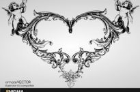 Free vector Vector pattern  heartshaped trend pattern vector