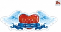 Free vector Vector Heart  heartshaped wings ribbon vector