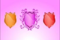 Colorful heraldic shields decoration vector illustration Free vector 1.96MB