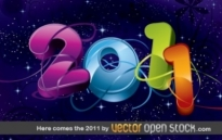 Free vector Vector misc  Here comes the 2011