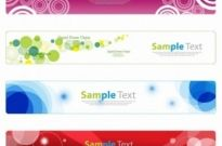 Free vector Vector banner  Horizontal Banner Set for Web