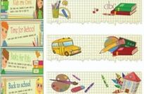 Free vector Vector banner  illustration style of education theme banner design template vector 1