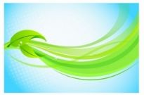 Free vector Vector background  Leaves with Graphic Wave Background