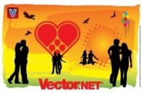 Free vector Vector Heart  Love is in the Air