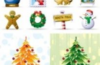Free vector Vector icon  lovely christmas element icons vector